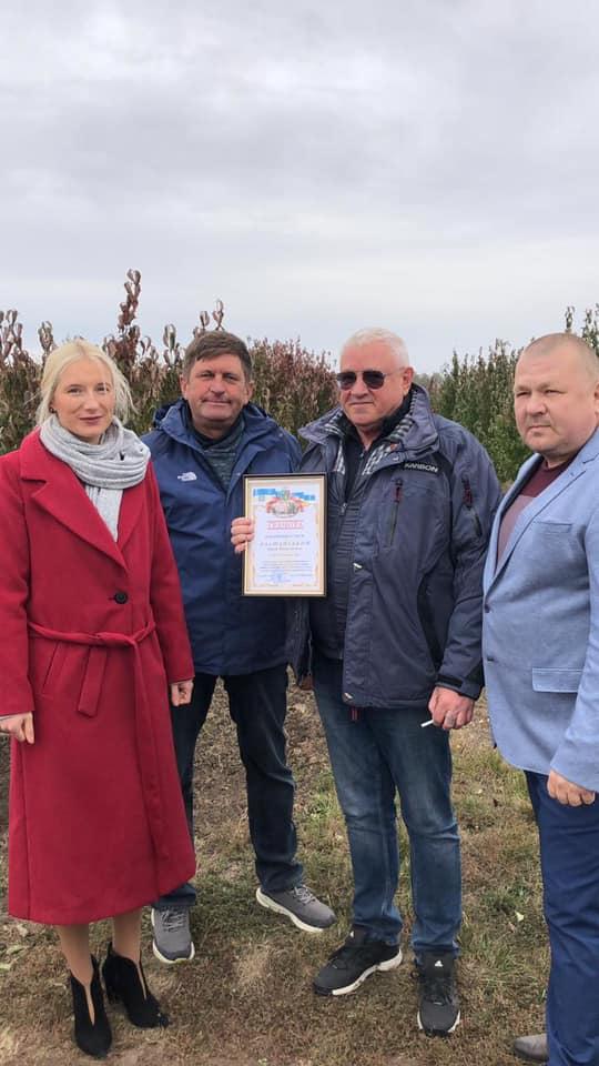 Кизиловий сад ТМ Fаmberry визнано найбільшим в країні та занесено до Книги рекордів України